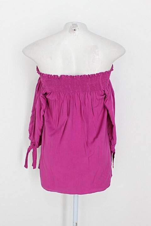 Blusa Ciganinha quintess feminina rosa_foto de costas