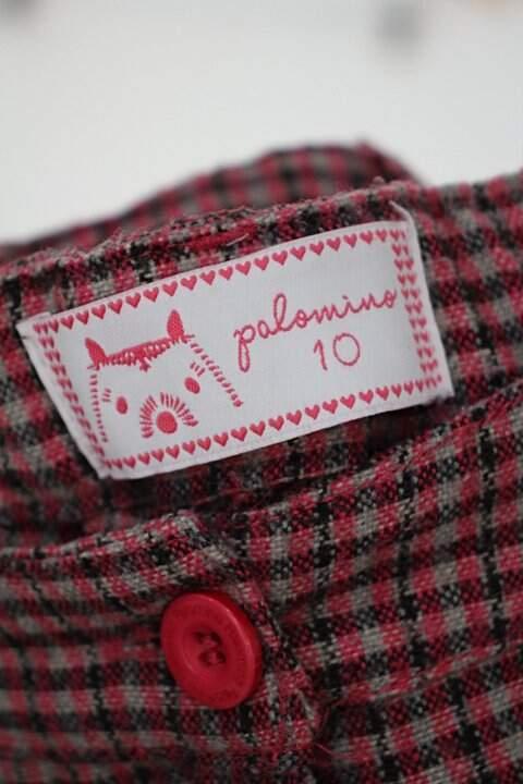 Shorts Infantil c&a rosa com estampa xadrez_foto de detalhe