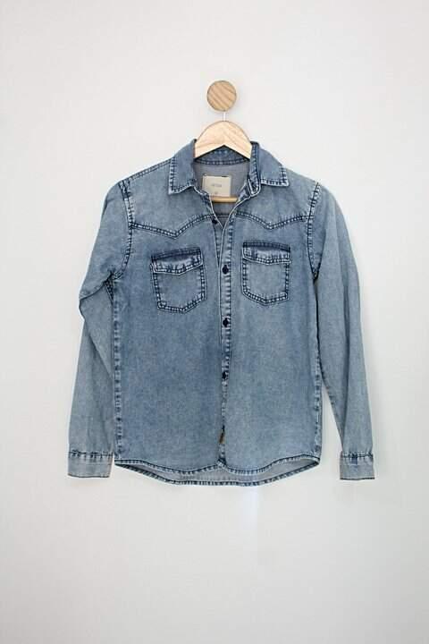 Camisa Infantil c&a azul_foto principal