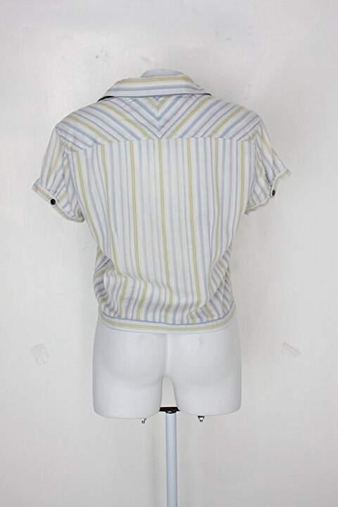 Camisa tommy hilfiger feminina listrada_foto de costas