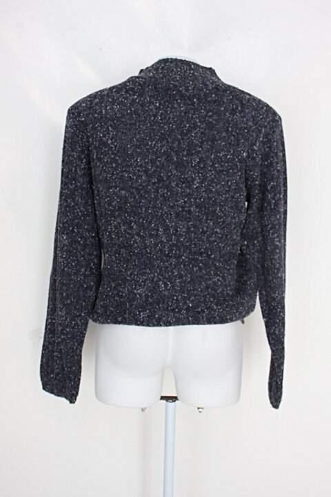 Suéter feminino azul_foto de detalhe