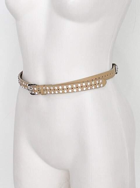 Cinto de Cintura feminino bege com aplique_foto de costas