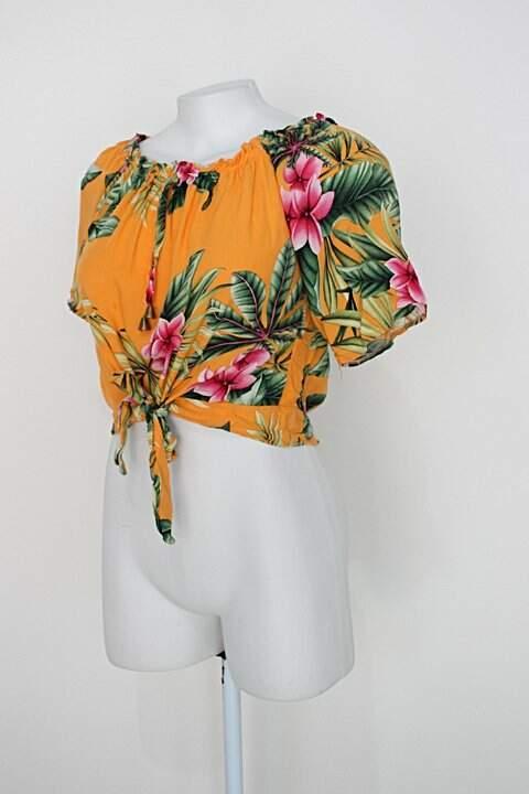 Blusa Ciganinha feminina amarelo_foto de costas