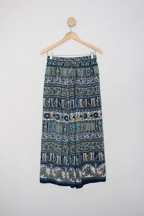 Calça de tecido india fashion feminina estampada_foto principal
