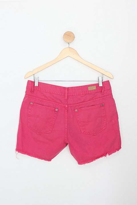 Shorts taco blue jeans feminino rosa_foto de costas