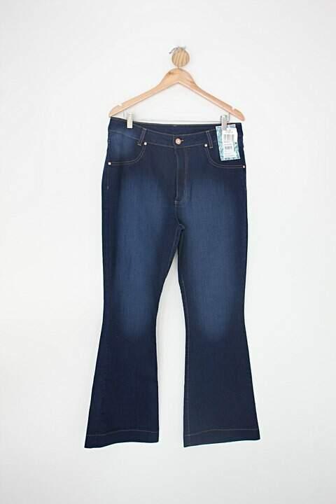 Calça Jeans flare cambos feminina azul_foto principal