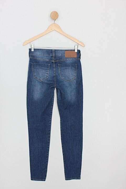 Calça Jeans colcci feminina azul_foto de costas