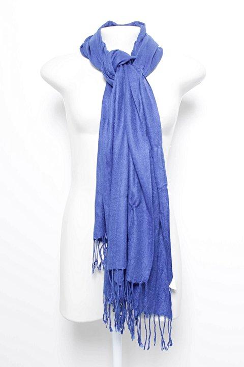 Lenço com Franjas Azul Royal_foto principal