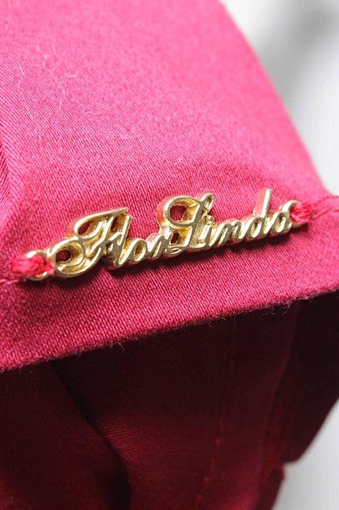 Vestido Tomara que Caia Vermelho Flor Linda_foto de costas