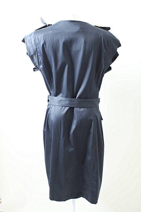 Vestido Azul Marinho Lita Mortari_foto de frente
