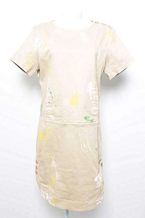 Vestido A.Brand Bege Tintas _foto principal