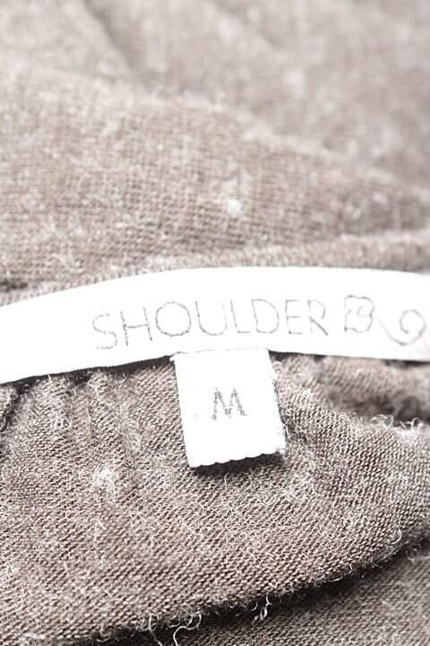 Vestido Shoulder Malha Marrom _foto de costas