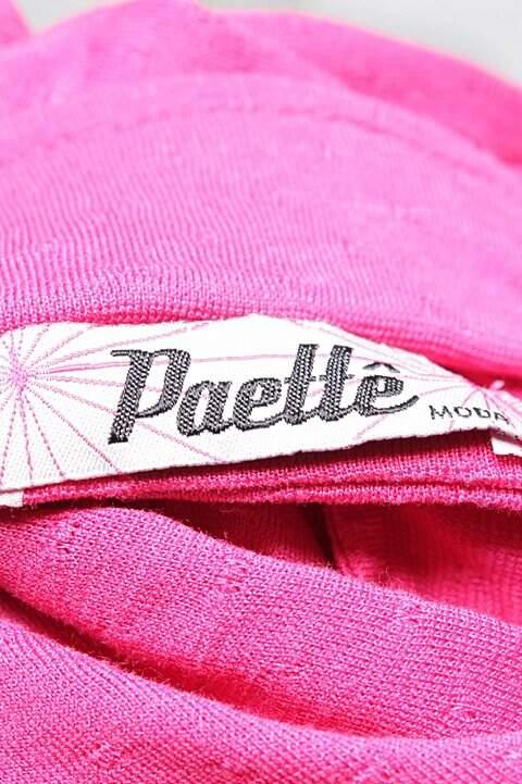 Camisa Rosa Malha Paettê_foto de costas