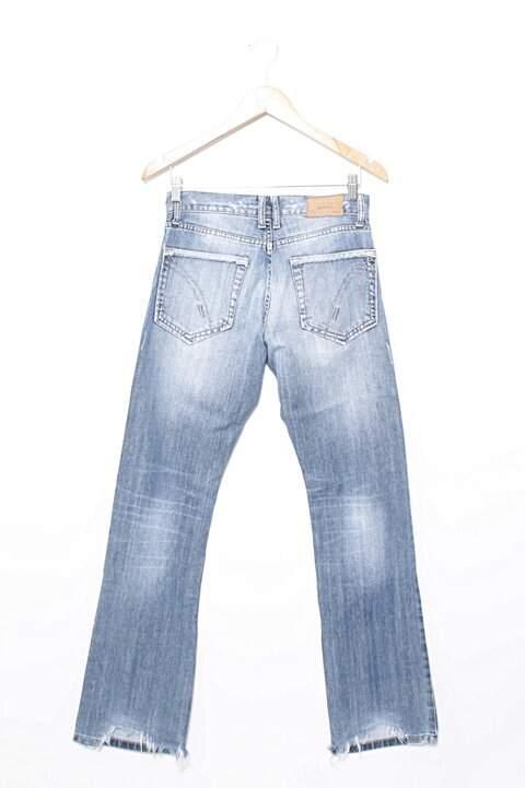 Calça Flare Jeans Couture_foto de frente
