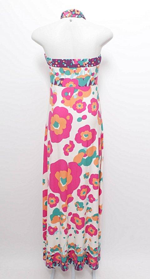 Vestido Longo Malha Floral Ênfase_foto de frente