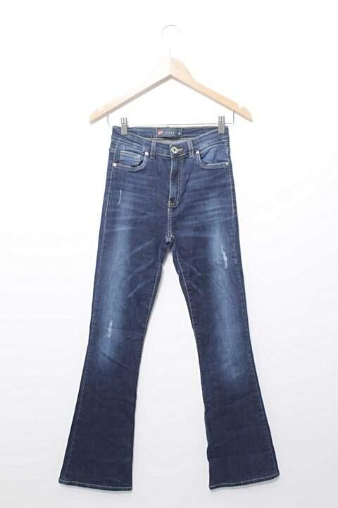 Calça Jeans Flare Escuro Riachuelo_foto principal