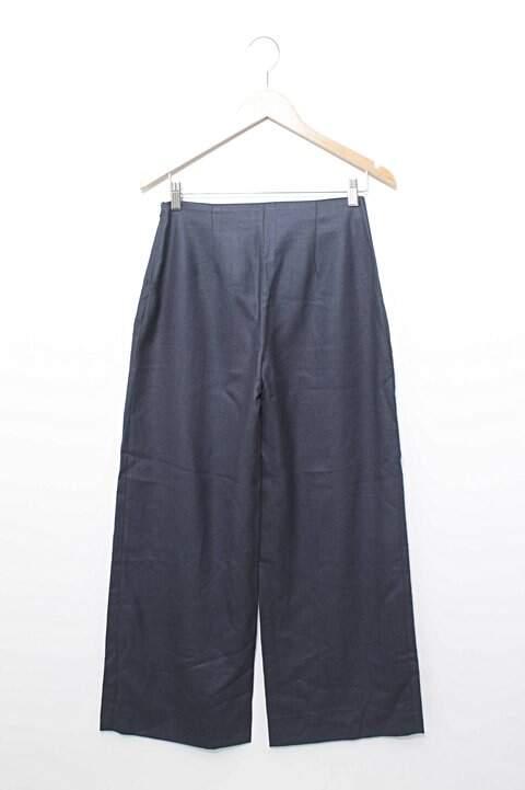 Calça Pantalona Azul Luminê_foto de frente