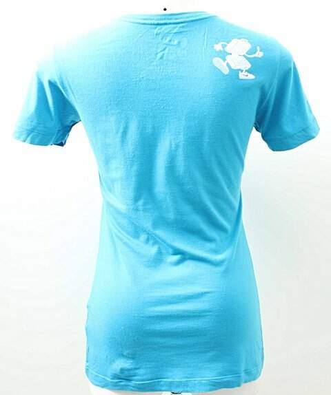 Camiseta Azul Frase Nike_foto de frente