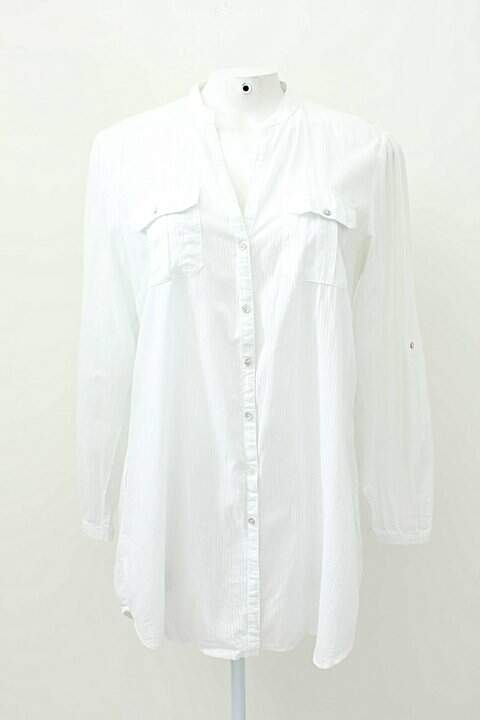 Camisa Social Listrada Denim & Co_foto principal