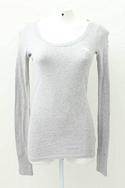 Camiseta Manga Longa Cinza Abercrombie & Fitch_foto principal