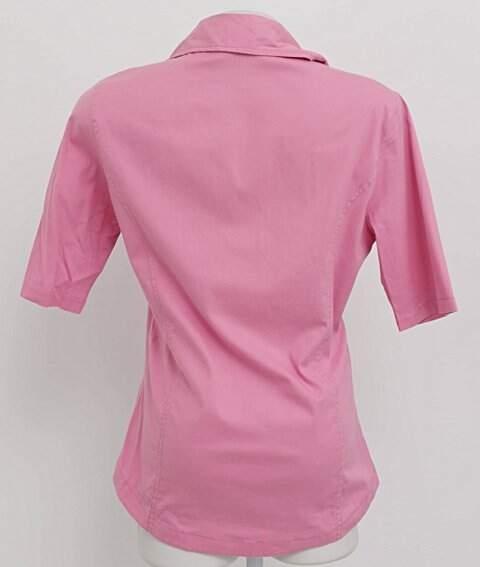 Camisa Rosa Mangas Curtas_foto de frente