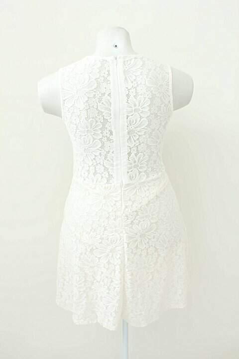 Vestido De Renda Off-White _foto de frente