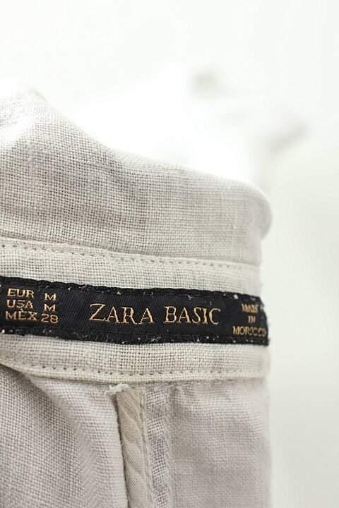 Colete Longo Linho Bege Zara_foto de costas