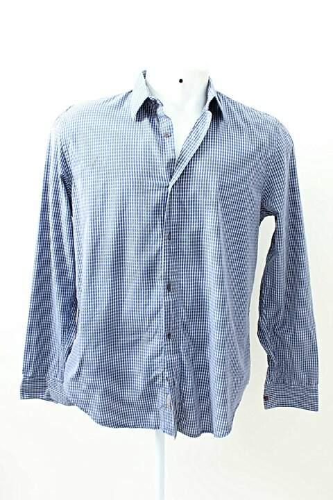 Camisa Xadrez Azul Calvin Klein_foto principal