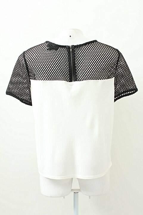 Camiseta Branca E Preta Topshop_foto de frente