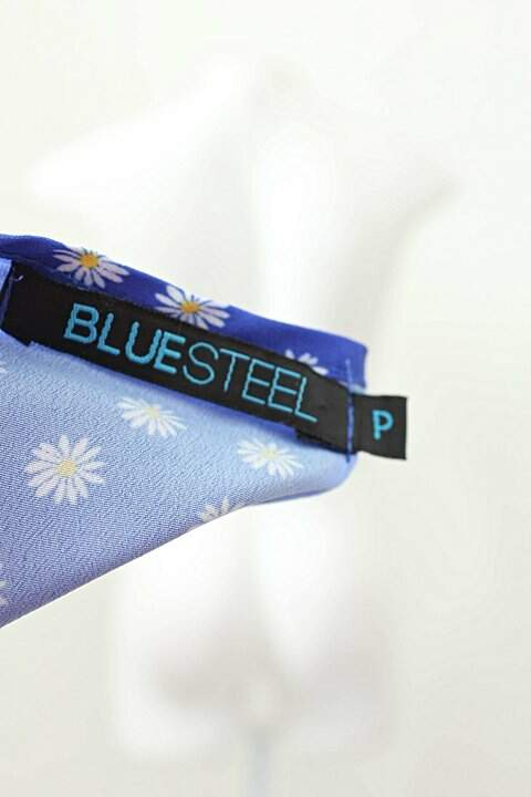 Blusinha Azul Estampada Renner_foto de costas