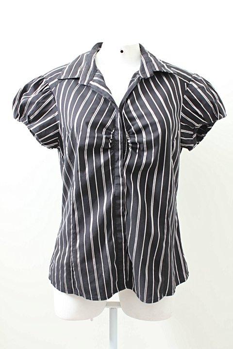 Camisa Cortelle Preta Listras Brancas _foto principal
