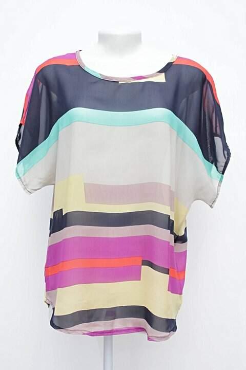 ee642ec96a Camiseta Listrada Colorida EA Classic - compre por menos