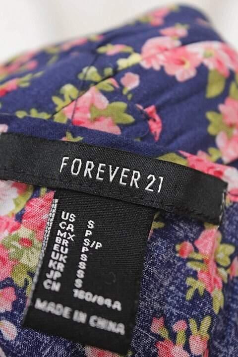 Vestido Estampa Floral Com Renda Forever 21_foto de costas
