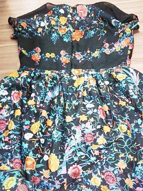 Vestido Antix Panô Floral Dark_foto de frente