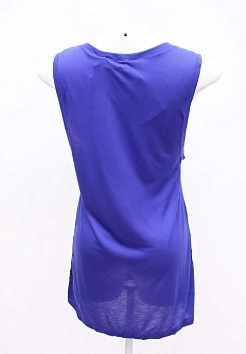Camiseta de Malha Azul - TAM 36_foto de frente