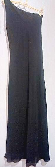 Vestido Ombro Único Preto_