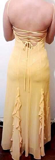 Vestido de Festa Amarelo_