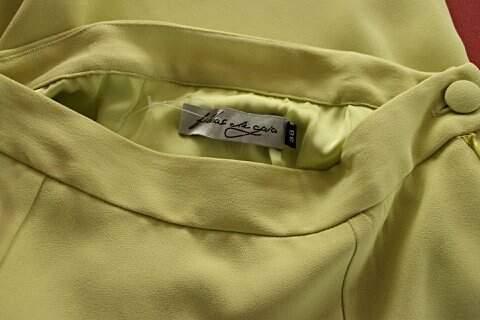 Saia Reta Filhas de Gaia Verde Limão  - TAM 42_foto de detalhe