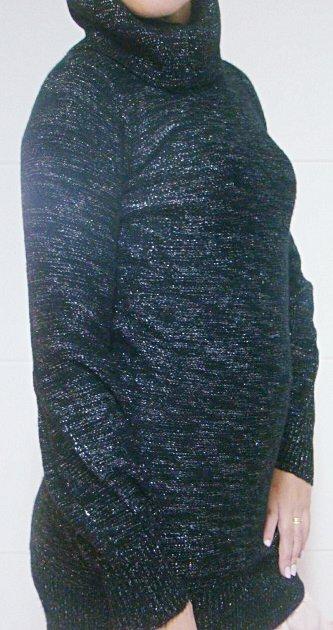 Blusa em lã preta com Brilho_foto de frente
