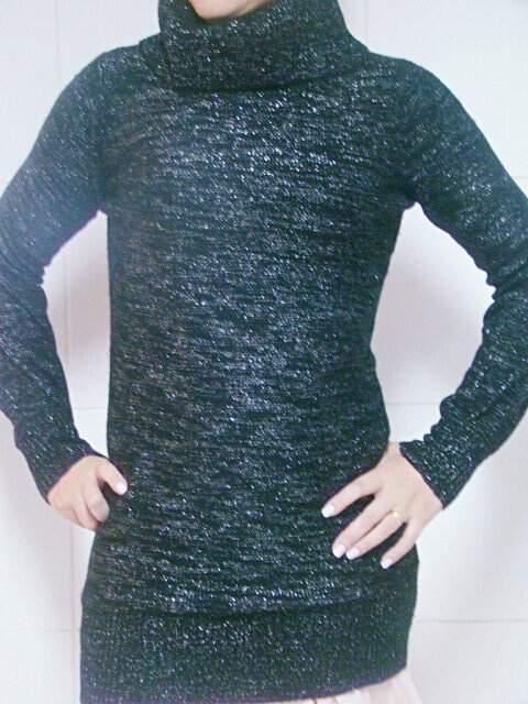 Blusa em lã preta com Brilho_foto principal