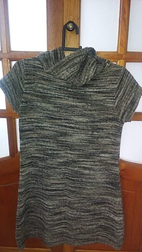 Vestido Mesclado em Lã_foto de detalhe