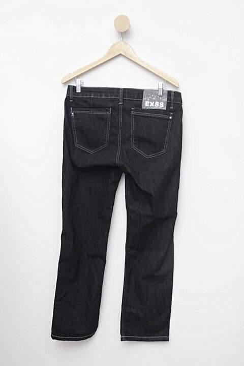 Calça jeans preta exss_foto de costas