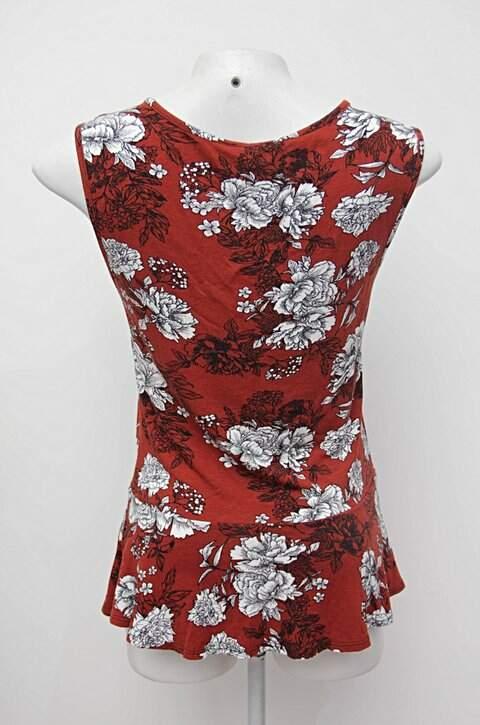 Blusa estampa floral com babado c&a_foto de costas