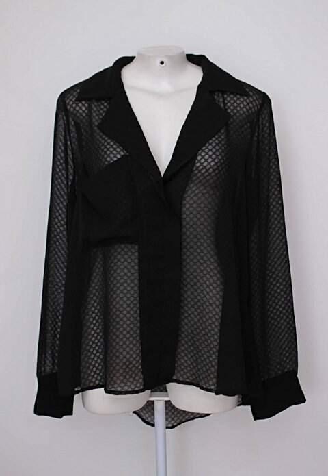 Blusa preta com transparência unique chic_foto principal