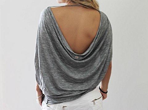 Blusinha Cinza Colcci_foto de costas