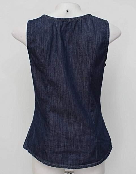 Colete Jeans Oppnus_foto de costas