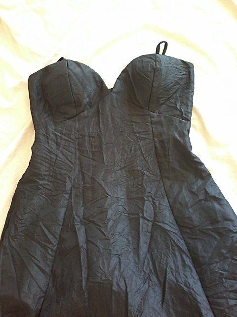 Vestido de Festa Preto Básico _foto de frente