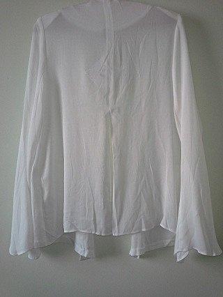 Blazer Branco FARM com fenda _foto de costas