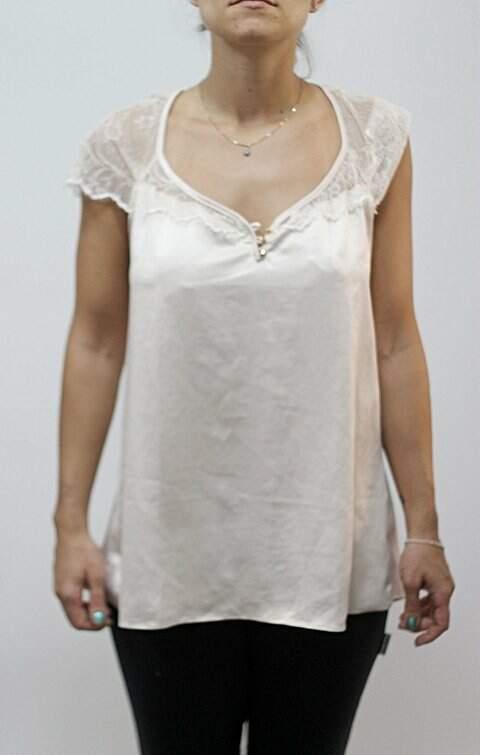 Blusa de Seda com renda Agatha_foto principal