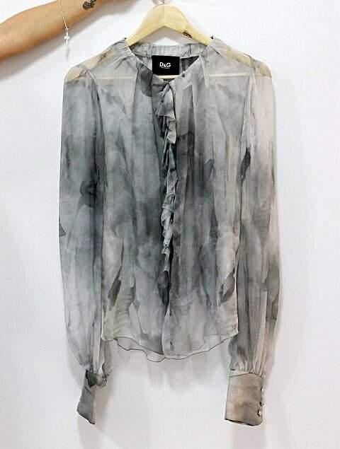 Camisa de Seda Dolce & Gabbana_foto de detalhe